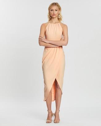 Missguided Halter Wrap Bodycon Midi Dress