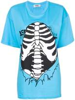 Jeremy Scott ribbed cage print T-shirt