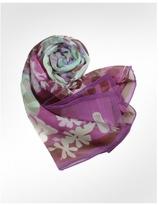 Floral Chiffon Silk Long Scarf