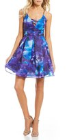 Jump Watercolor Floral Print Fit-And-Flare Dress
