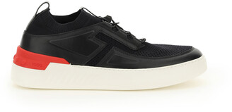Tod's NO CODE 14C SNEAKERS 10 Black, White, Red Technical, Leather