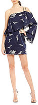 C/Meo Nothing Matters Printed One-Shoulder Mini Dress