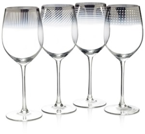 Mikasa Cheers Collection Metallic Ombre Wine Glasses, Set Of 4