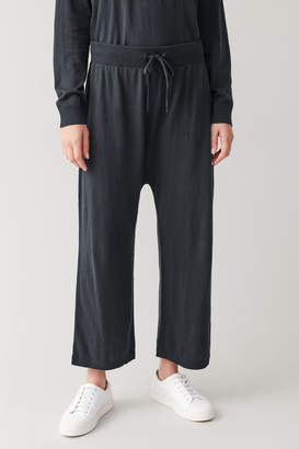 Cos LOOSE COTTON-CASHMERE TROUSERS