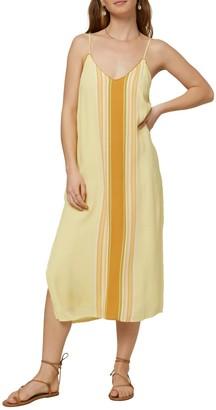 O'Neill Avana Striped Midi Shift Dress