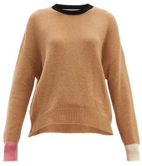6dc26dc5c7d Colour Block Cashmere Sweater - Womens - Brown Multi