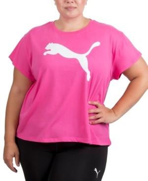 Puma Plus Size Cotton Logo T-Shirt