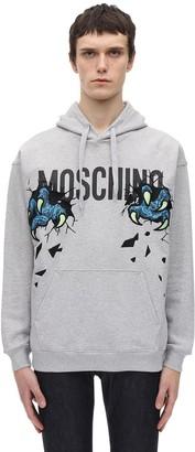 Moschino Dinosaur Logo Cotton Hoodie