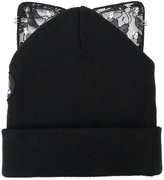 Silver Spoon Attire bad kitty embellished beanie