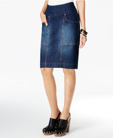 Jag Janelle Pull-On Denim Pencil Skirt