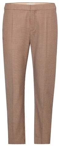 Chloé Plaid cropped trousers