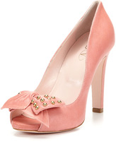 RED Valentino Open Toe Bow Pump