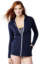 Classic Women's Swim Cover-up Hoodie-White