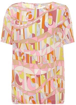Emilio Pucci Printed silk-crepe top