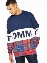 Tommy Hilfiger Tommy Tommy Cut N Sew Tartan Sweat