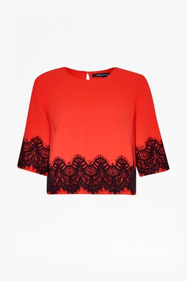 French Connection Linea Lace Crop Top