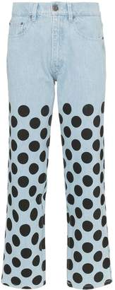 House of Holland polka-dot printed jeans