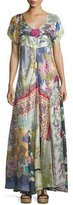 Johnny Was Dolce Vivo Patch Maxi Dress, Multi Colors, Petite