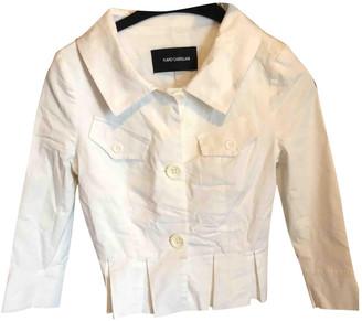 Flavio Castellani White Cotton Trench coats