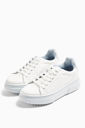 Topshop CANADA Blue Lace Up Sneakers