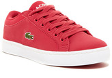Lacoste Straightset Lace Sneaker (Little Kid)