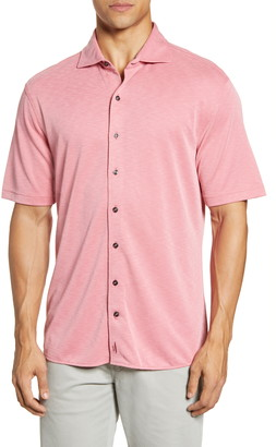 johnnie-O Stokes Short Sleeve Knit Button-Up Shirt