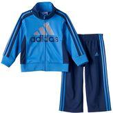adidas Baby Boy Logo Track Jacket & Tricot Pants Set