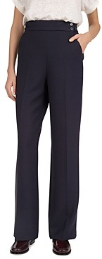 Gerard Darel High-Waist Wide-Leg Pants