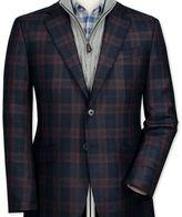 Charles Tyrwhitt Slim fit navy check lambswool jacket