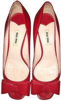 Miu Miu Leather ballet flats