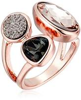 Kenneth Cole New York Supercharged Collection Women'sBlush and Druzy Stone Cluster Ring, Size 7.5