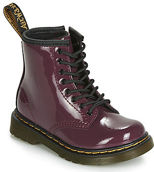 Dr. Martens 1460 PATENT TODDLER girls's Mid Boots in Purple