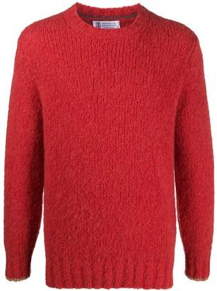Brunello Cucinelli Crew Neck Textured Sweater