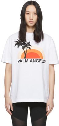 Palm Angels White Sunset T-Shirt