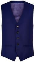 Jaeger Wool Mohair Modern Fit Waistcoat, Blue