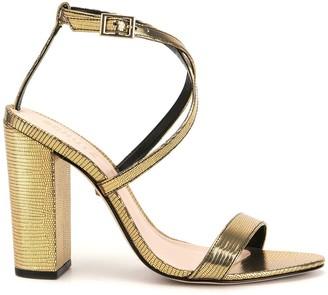 Schutz Lizard Metallic Sandals