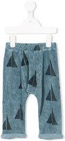 Bobo Choses sail boat pattern trousers