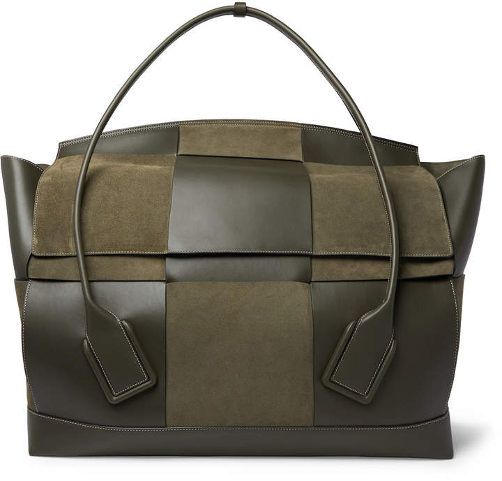 41ae33862 Intrecciato Suede and Leather Holdall - Men - Green