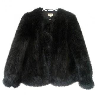 Bel Air Black Faux fur Coat for Women