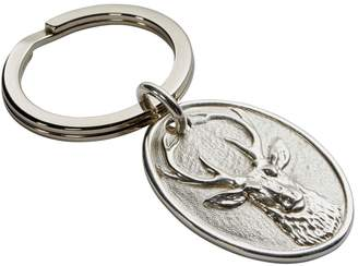 Carrs of Sheffield Silver Stag Key Ring
