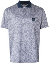 Versace patterned polo shirt