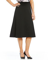 Calvin Klein Scuba Crepe MIdi A-Line Skirt