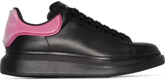Alexander McQueen Oversized two-tone leather sneakers