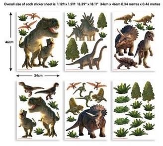 Brewster Home Fashions Walltastic Dinosaur Land Wall Stickers