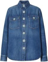 Burberry logo applique denim shirt