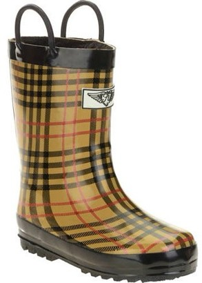 Forever Young Kids' Plaid Print Rain Boot
