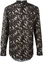 MSGM hemp leaf print shirt