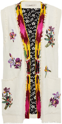Etro Frayed Embellished Silk Vest