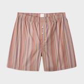 Paul Smith Men's Signature Stripe Cotton Boxer Shorts