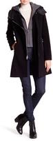 Andrew Marc Hilary Plush Wool Blend Coat